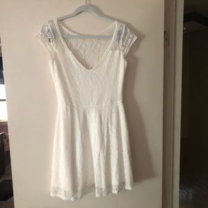 Hollister White Lace Dress